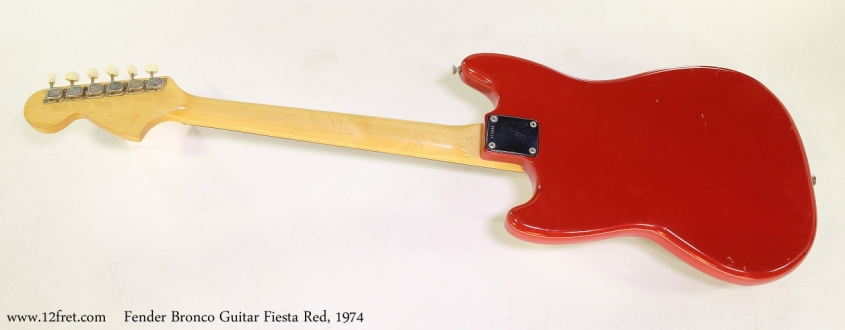 Fender Bronco Guitar Fiesta Red, 1974 Full Rear View