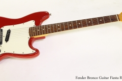 Fender Bronco Guitar Fiesta Red, 1974 Full Front View