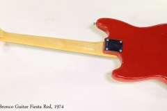 Fender Bronco Guitar Fiesta Red, 1974 Full Rear View