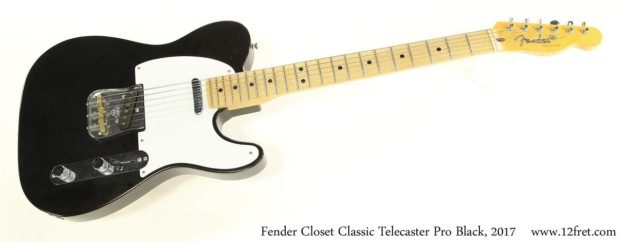Fender Closet Classic Telecaster Pro Black, 2017 Full Front View