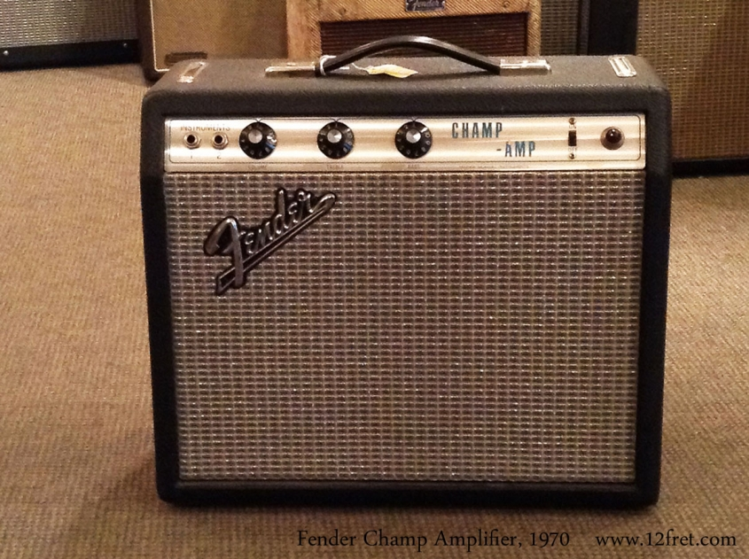 Fender Champ Amplifier, 1970 Full Front View