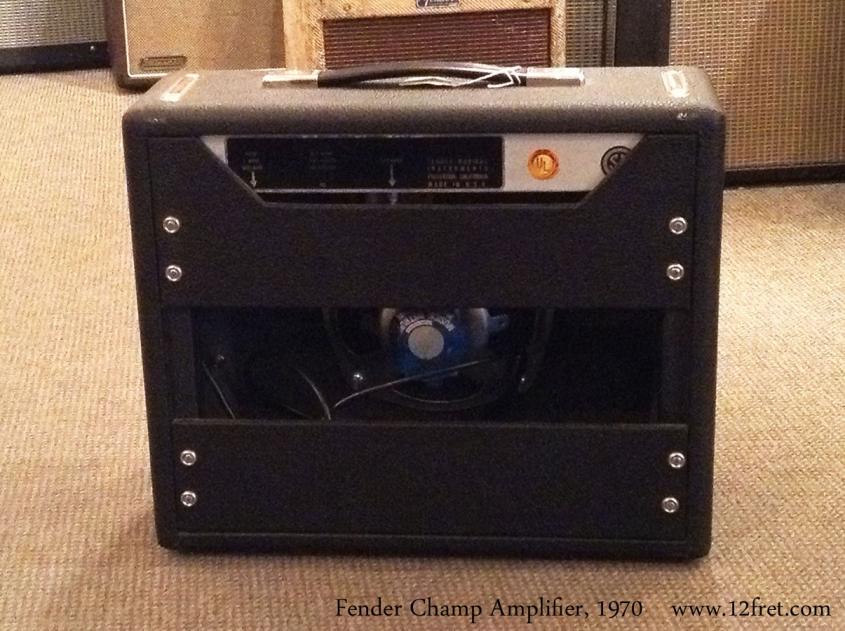 Fender Champ Amplifier, 1970 Full Rear View