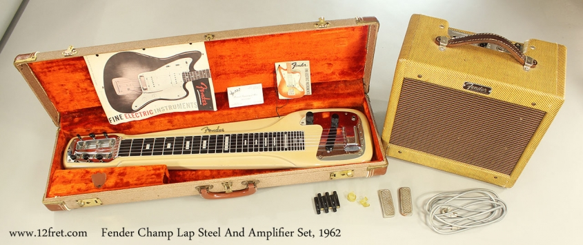 Fender Champ Lap Steel And Amplifier Set, 1962 Collection Front