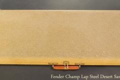 Fender Champ Lap Steel Desert Sand, 1962 Case Closed View