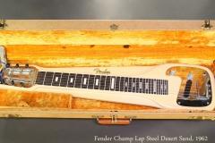 Fender Champ Lap Steel Desert Sand, 1962 Case Open View