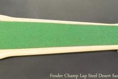 Fender Champ Lap Steel Desert Sand, 1962 Full Rear View