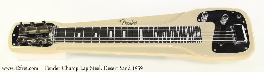 Fender Champ Lap Steel, Desert Sand 1959 Full Front View