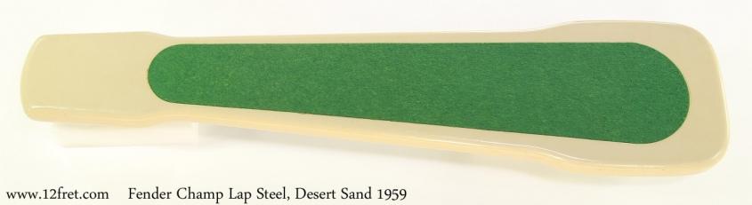 Fender Champ Lap Steel, Desert Sand 1959 Full Rear View