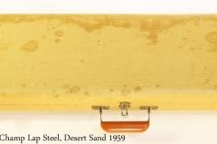 Fender Champ Lap Steel, Desert Sand 1959 Case Closed View