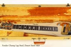 Fender Champ Lap Steel, Desert Sand 1959 Case Open View