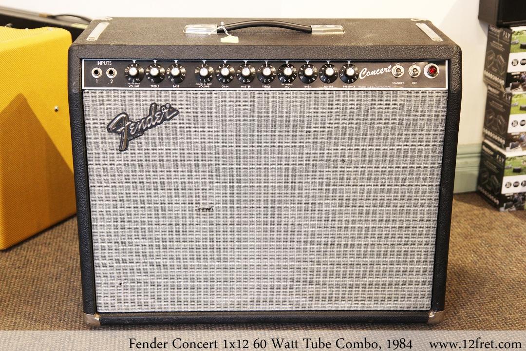 Fender Concert 1x12 60 Watt Tube Combo, 1984 Full Front View