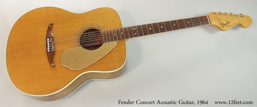 Fender Concert Acoustic Guitar, 1964 Full Front View
