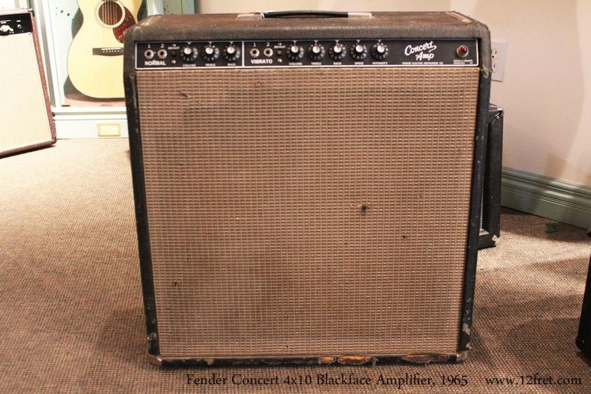 Fender Concert 4x10 Blackface Amplifier, 1965 Full Front View