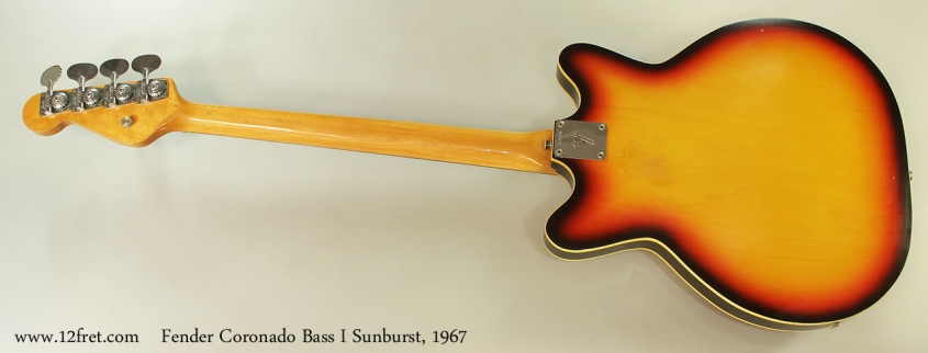 Fender Coronado Bass I Sunburst, 1967 Full Rear View