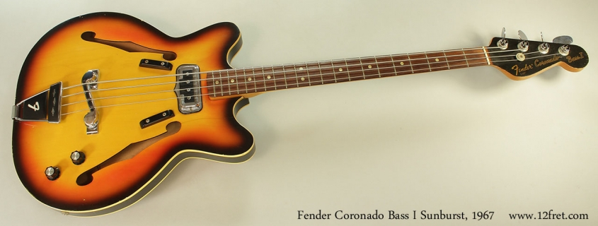 Fender Coronado Bass I Sunburst, 1967 Full Front View