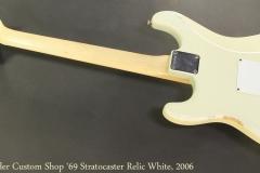 Fender Custom Shop '69 Stratocaster Relic White, 2006 Full Rear View