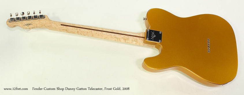 Fender Custom Shop Danny Gatton Telecaster, Frost Gold, 2008 Full Rear View