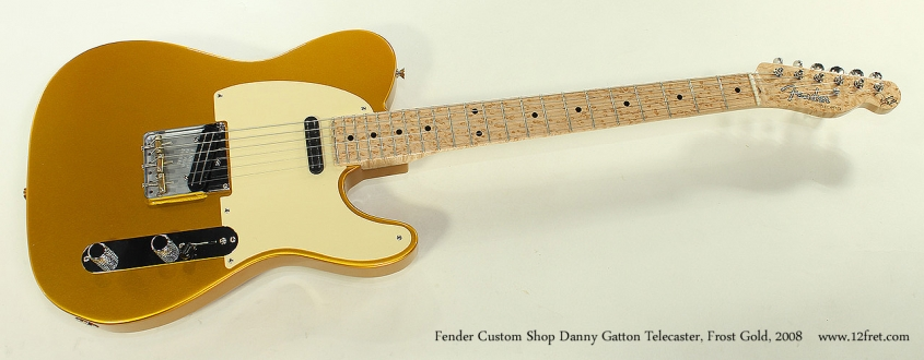 Fender Custom Shop Danny Gatton Telecaster, Frost Gold, 2008 Full Front View