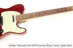 Fender Telecaster 63 NOS Custom Shop Candy Apple Red, 2007 Full Front View