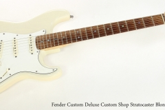 Fender Custom Deluxe Custom Shop Stratocaster Blonde, 1999  Full Front View