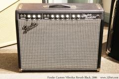 Fender Custom Vibrolux Reverb Black, 2006 Full Front View