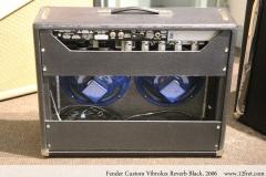 Fender Custom Vibrolux Reverb Black, 2006 Full Rear View