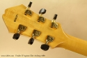 Fender D\'Aquisto Elite Archtop Natural 1989 head rear