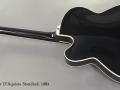 Fender D'Aquisto Standard 1984 full rear view