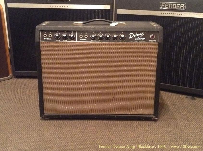 Fender Deluxe Amp 'Blackface', 1965 Full Front View