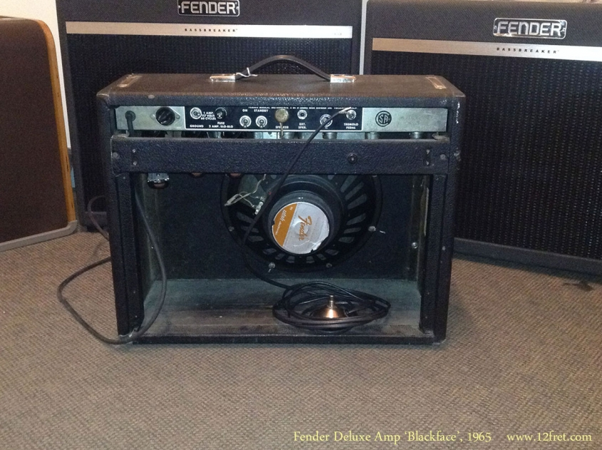 Fender Deluxe Amp 'Blackface', 1965 Full Rear View