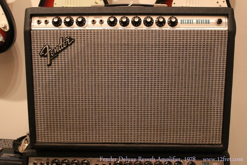 Fender Deluxe Reverb Amplifier, 1978 Full Front View