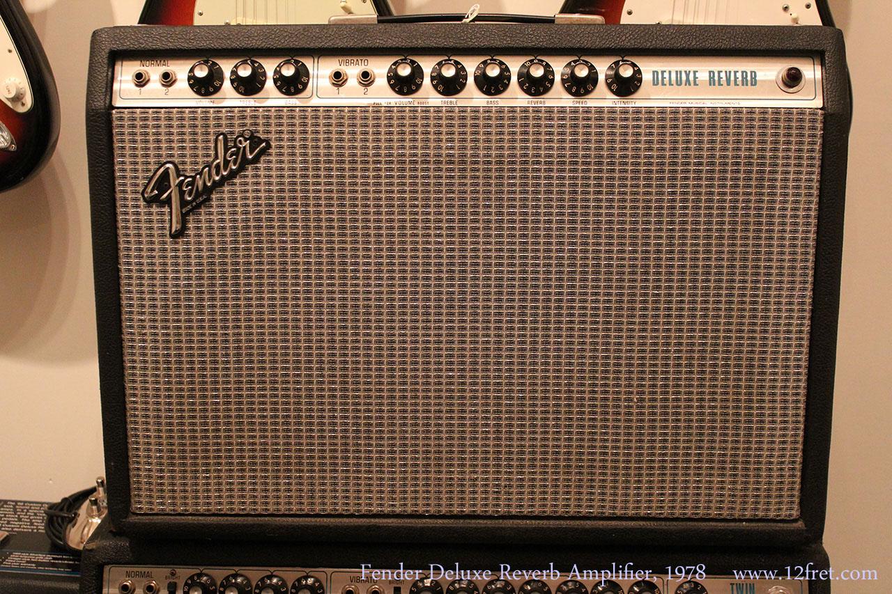 Fender Deluxe Reverb Amplifier, 1978 Full Front View