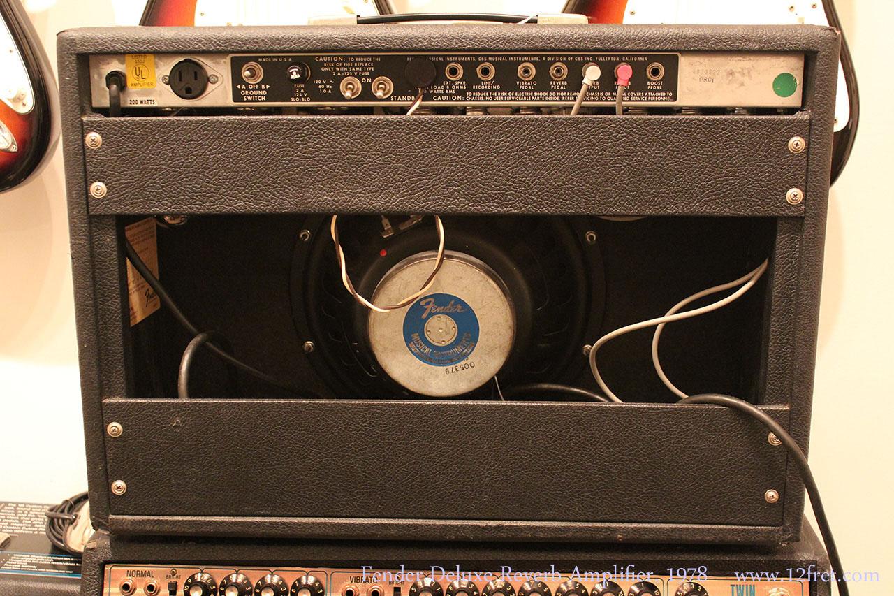 1978 fender deluxe reverb amplifier sold. Black Bedroom Furniture Sets. Home Design Ideas