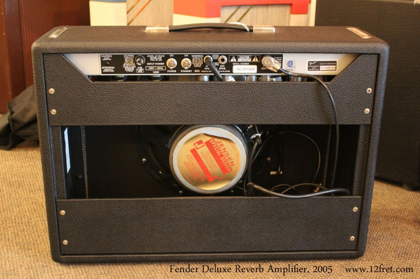 Fender Deluxe Reverb Amplifier, 2005 Full Rear View