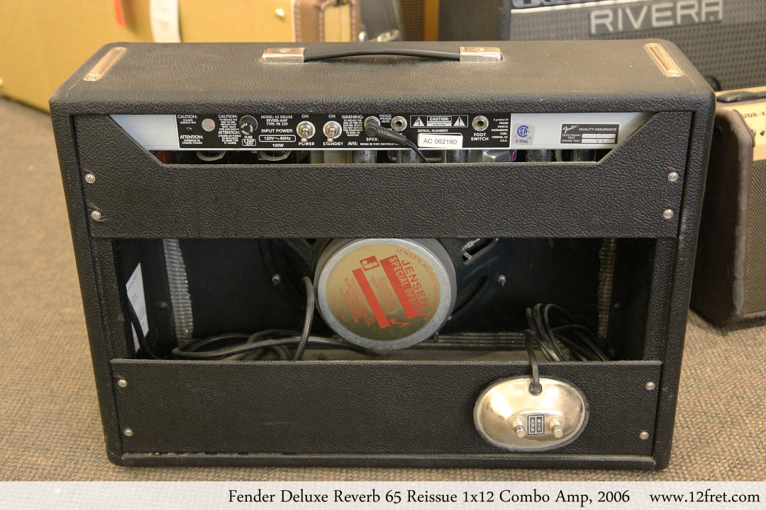 Fender Deluxe Reverb 65 Reissue 1x12 Combo Amp, 2006 Full Rear View