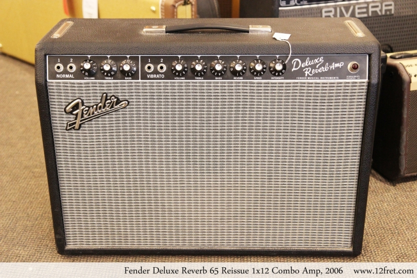 Fender Deluxe Reverb 65 Reissue 1x12 Combo Amp, 2006 Full Front View