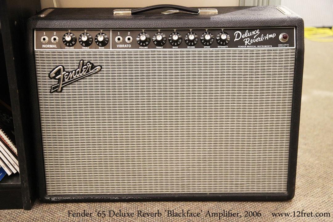 Fender '65 Deluxe Reverb 'Blackface' Amplifier, 2006  Full Front View