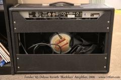 Fender '65 Deluxe Reverb 'Blackface' Amplifier, 2006  Full Rear View