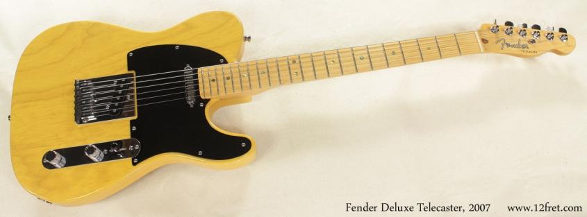 Fender Deluxe Ash Telecaster 2007 full front view