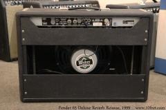 Fender 65 Deluxe Reverb Reissue, 1999 Full Rear View