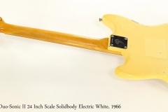 Fender Duo-Sonic II 24 Inch Scale Solidbody Electric White, 1966  Full Rear View