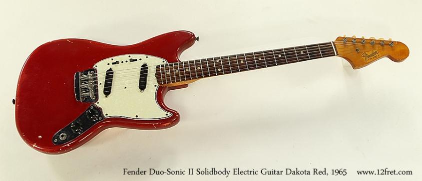 Fender Duo-Sonic II Solidbody Electric Guitar Dakota Red, 1965 Full Front View