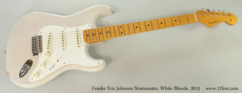 Fender Eric Johnson Stratocaster, White Blonde, 2013 Full Front View