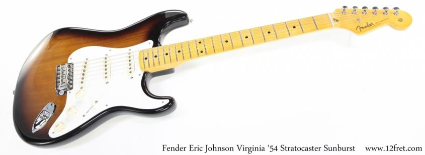 Fender Eric Johnson Virginia '54 Stratocaster Sunburst Full Front View