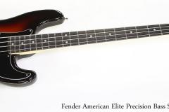 Fender American Elite Precision Bass Sunburst, 2018   Full Front Vuew