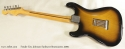 Fender Eric Johnson Sunburst Stratocaster 2005 full rear view