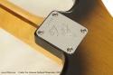 Fender Eric Johnson Sunburst Stratocaster 2005 neckplate