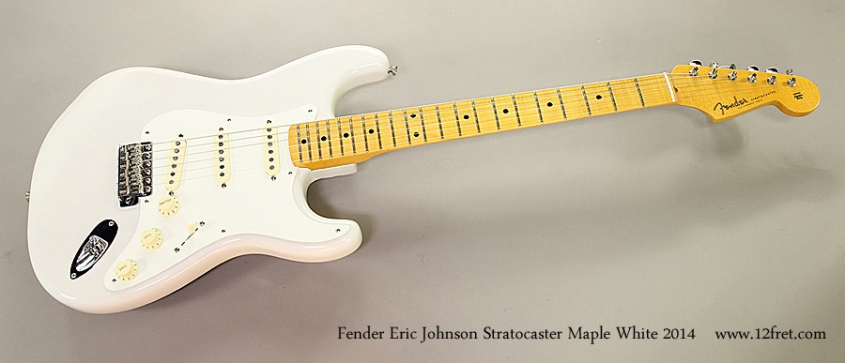 Fender Eric Johnson Stratocaster Maple White 2014 Full Front View