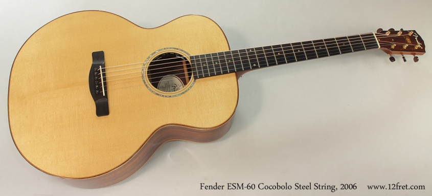 Fender ESM-60 Cocobolo Steel String, 2006 Full Front View
