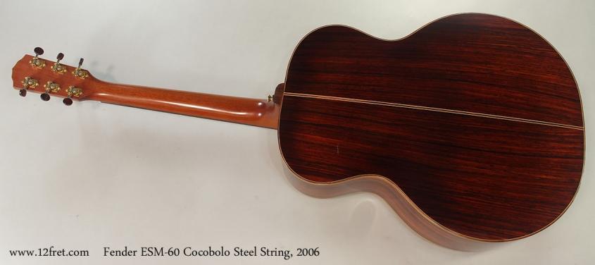 Fender ESM-60 Cocobolo Steel String, 2006 Full Rear View